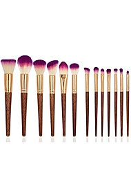 cheap -17 pieces makeup brush set professional wood handle make up brushes, premium synthetic kabuki foundation blending blush concealer eye face lip brushes for powder liquid cream & #40;17 pcs&