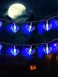 cheap -3m 20LEDs Little Bat Style Halloween String Lights AA Battery Operated Dhost Festival Horror String Lights Halloween Decoration Lights