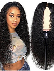 cheap -Synthetic Wig Afro Curly with Baby Hair Wig Very Long Black Synthetic Hair 62-66 inch Women's African American Wig Black