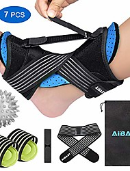 cheap -2020 new upgraded blue night splint for plantar fascitis,  multi adjustable ankle brace foot drop orthotic brace for plantar fasciitis, arch foot pain, achilles tendonitis support for women, men