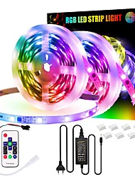 cheap -RGBIC Strip Light 5M 10M LED Light Strip Set 150-300 LEDs Set 16 Million Colors Mounting Bracket Multi Color Home Bedroom Outdoor Decoration Waterproof Christmas New Year's Party Cool 12V