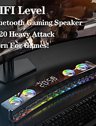 cheap -Bluetooth Wireless Game Speaker soundbar USB 3D Stereo Subwoofer AUX FM Home Clock Indoor Sound Bar Computer Loudspeaker 3600mAh