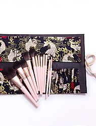 cheap -12 Pcs Beginner Makeup Brushes Set Soft Pink White Full Set Of Professional Makeup Tools Totem Cosmetic Bag