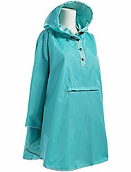 cheap -women's reversible rain poncho, g blue floral burst, one size
