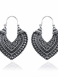 cheap -vintage boho drop dangle earrings, antique bohemian national style hollow heart shaped bronze fashion earrings for women girls giftantique silver