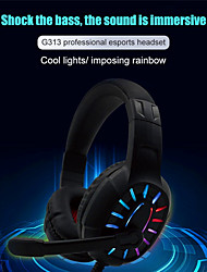 cheap -LITBest KOMC313 Gaming Headset for PC Beexcellent Stereo Surround Sound Colorful LED Gaming Headphones with Microphone