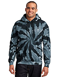 cheap -port & company mens essential tie-dye pullover hooded sweatshirt, l, black