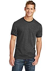 cheap -port & company 5.4-oz 100% cotton ringer tee. pc54r dark heather grey/jet black medium