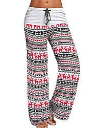 cheap -merry christmas women's pajamas with pajama pants xmas white small