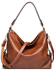 cheap -Women's Bags PU Leather Polyester Top Handle Bag Hobo Bag Daily Office & Career 2021 Handbags Black Blue Brown Gray