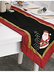 cheap -Table Runner Nonwoven Christmas Contemporary Holiday Table cover Table decorations for Christmas Rectangular 180*35 cm Dark Red 1 pc
