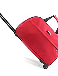 cheap -luggage 20 inch rolling duffle trolley bag travel bag tote carry-on red