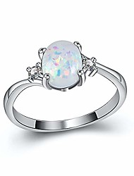 cheap -women opal colorful ring jewelry engagement wedding statement eternitytarnish resistant
