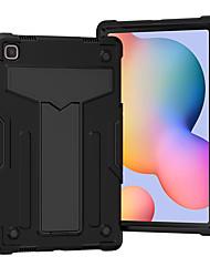 preiswerte -Telefon Hülle Handyhüllen Für Samsung Galaxy Rückseite Samsung Tab A 10.1 (2019) T510 Samsung Galaxy Tab A7 2020 T500 / 505 Stoßresistent mit Halterung Solide Silikon PC