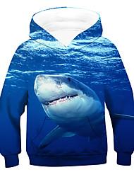 cheap -Kids Boys' Hoodie & Sweatshirt Long Sleeve 3D Animal Blue Children Tops Active Basic Children's Day