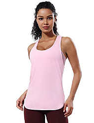 cheap -4 styles women's workout shirts soft athletic yoga tops outdoor sports - low crew neck_lightpink large