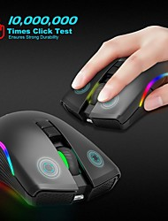 cheap -ZERODATE T2 Wireless 2.4G Gaming Mouse Office Mouse Led Light 2400 Dpi 3 Adjustable DPI Levels 7 Programmable Keys