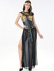 billige -Gudinde Vintage Det gamle Grækenland Kjoler Festkostume Dame Spandex Kostume Sort Vintage Cosplay Stævnemøde Festival Uden ærmer / Pandebånd