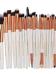 cheap -20 pieces makeup brush set,  makeup brushes kit foundation face eye shadow eyeliner blush lip cosmetic powder cosmetics blending makeup brush tool & #40;d& #41;