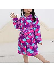 cheap -Kids Girls' Basic Blue Print Sleepwear Blue