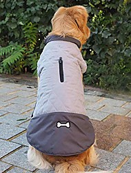 cheap -cute bone logo winter dog coats warm reversible dog clothes waterproof reflective dog vest cold weather jacket for small medium large dogs (m, pink)