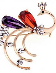 cheap -Women's Synthetic Amethyst Brooches Geometrical Fashion Stylish Brooch Jewelry Rainbow For Party / Evening Daily