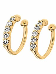 cheap -hoop earrings,14k gold plated cartilage hole hinged huggie stud with cz cubic zirconia earrings for women girls
