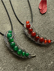 cheap -Choker Necklace Chains Long Necklace Women's Unique Design Romantic Trendy Boho Cute Cool Red Dark Green 90 cm Necklace Jewelry for Street Gift Daily Promise Festival / Charm Necklace