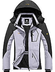 cheap -women's mountain waterproof ski snow jacket winter windproof rain jacket (light grey,x-large)