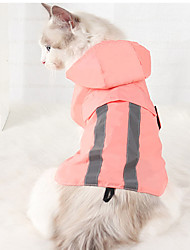 cheap -Dog Cat Rain Coat Color Block Fashion Casual / Sporty Casual / Daily Outdoor Winter Dog Clothes Puppy Clothes Dog Outfits Waterproof Black Pink Green Costume for Girl and Boy Dog Polyster S M L XL