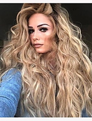 cheap -Synthetic Wig Curly Body Wave Pixie Cut Wig Long Light Blonde Synthetic Hair 30 inch Women's Fashionable Design Party Fluffy Blonde