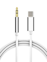 cheap -Type-C to 3.5mm audio aux jack adapter USB C to 3.5mm audio cable car aux cable headset adapter