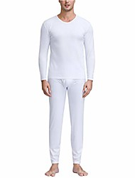 cheap -thermal underwear for men | fleece long johns with thermic-flex technology | breathable ultra soft thick fabric warm base layer for snow cold winter white small