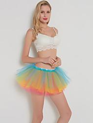 cheap -Ballet Dancer Petticoat Hoop Skirt Tutu Women's Movie Cosplay Classic Lolita Vacation White Black Purple Skirts Halloween Carnival Masquerade Organza Cotton