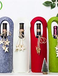 cheap -Felt Christmas Single Wine Bag 2pcs