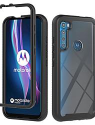 cheap -Phone Case For Motorola Back Cover Moto G8 Power Lite Moto E6S (2020) MOTO ONE FUSION Shockproof Translucent Armor Geometric Pattern Armor TPU PC