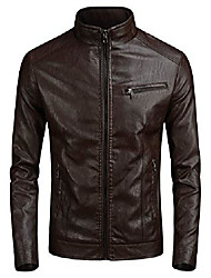 cheap -men's vintage leather moto jacket biker