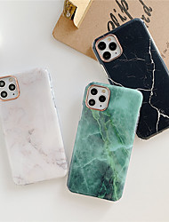 cheap -Phone Case For Apple iPhone 12 Pro Max / iPhone 11 Pro Max / iPhone 12 Mini Plating / IMD / Frosted Back Cover Marble TPU For iPhone XR / XS / XS Max / X / SE2020 / 7 8 Plus
