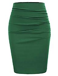 cheap -women wrap ruched stretch draped bodycon pencil skirt size xl green