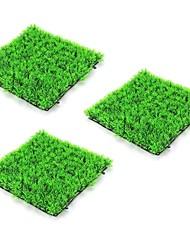 cheap -3pcs 25*25cm Artificial Green Plant Lawns Carpet for Home Garden Wall Landscaping Green Plastic Lawn Door Shop Backdrop Image Grass