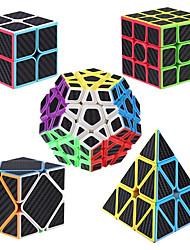 cheap -Speed Cube Set 5 pcs Magic Cube IQ Cube Carbon Fiber 2*2*2 3*3*3 Speedcubing Bundle 3D Puzzle Cube Stress Reliever Puzzle Cube Stickerless Smooth Office Desk Toys Pyramid Megaminx Skew Kid's Adults
