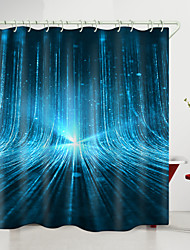 cheap -3D Technology light Digital Printing Shower Curtain Shower Curtains  Hooks Modern Polyester New Design