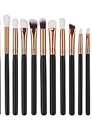 cheap -12pcs mini cosmetic eyebrow makeup brush sets kits tools (black)