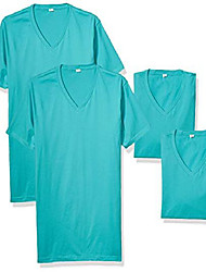 cheap -men's cotton v (3 pack), tahiti blue, x-small