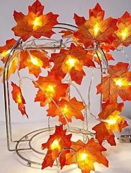 cheap -1.5M 10LED Lights Maple Leaves Garland Led Fairy Lights for Christmas Decoration Autumn String Light Festive DIY Halloween Decor