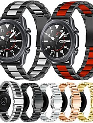 cheap -Metal Stainless Steel Watch Band for Samsung Galaxy Watch 3 45mm / Galaxy Watch 46mm / Gear S3 Classic / Gear S3 Frontier Replaceable Bracelet Wrist Strap Wristband