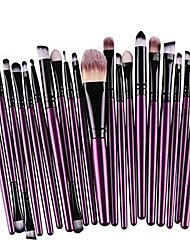 cheap -- makeup brushes professional 20pcs/set make up brush set foundation powder eyeshadow blush eyebrow lip pincel maquiagem [purple black]