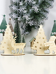 cheap -Christmas Decorations Christmas Ornaments Wood Stand