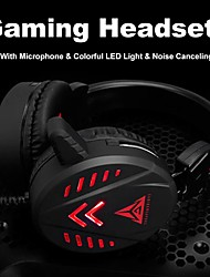 cheap -A1 Game Headsets 3.5Mm Wired Earphone With Mic Colorful Led Light Volume Control