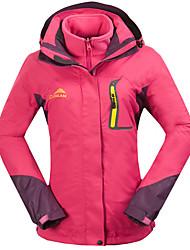 cheap -Cikrilan Women's Hoodie Jacket Hiking Jacket Hiking 3-in-1 Jackets Outdoor Patchwork Thermal Warm Waterproof Windproof Fleece Lining Jacket 3-in-1 Jacket Winter Jacket Fleece Double Sliders Full